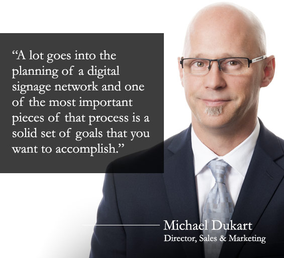 Michael Dukart digital signage network