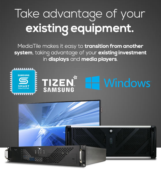 existing digital signage equipment